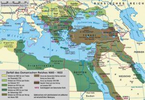 die größte Ausdehnung des osmanischen Reichs